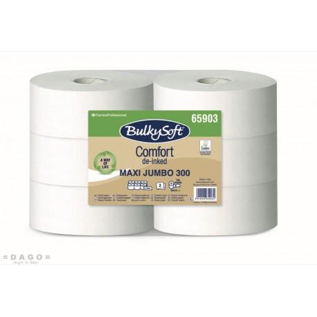 Toaletní papír Jumbo 250 2vrstvá celulosa BULKY SOFT  6rolí