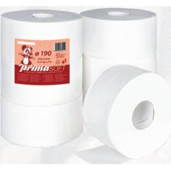 Toaletní papír Jumbo 190  2 vrstvý jemný bílý