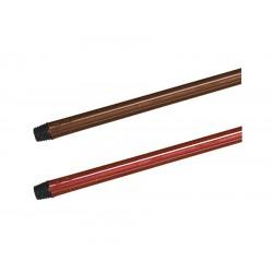 Tyč kovová 130cm pogumovaná- jemný závit