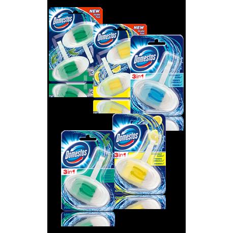 Domestos WC závěsný blok 3v1 (MIX druhů)
