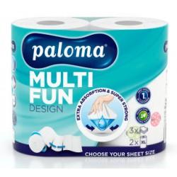 Paloma utěrky XL Multi Fun Design 2 role