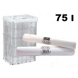 Pytle na odpad 70 litrů 63x85cm  40ks bílé
