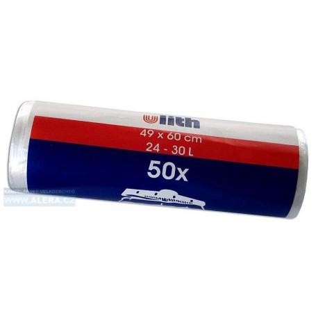 Pytle na odpad 30L 50ks bílé 49x60cm