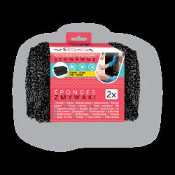 Houba -PE drátěnka 2ks černá